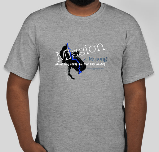 Mission to Mekong Fundraiser - unisex shirt design - front