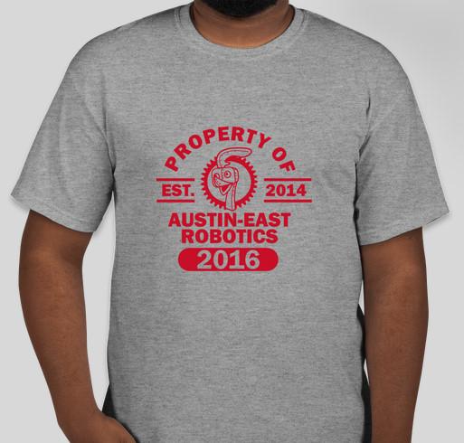 Austin East Robotics Club Fundraiser - unisex shirt design - front