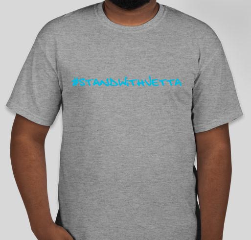 standwithjetta Fundraiser - unisex shirt design - front