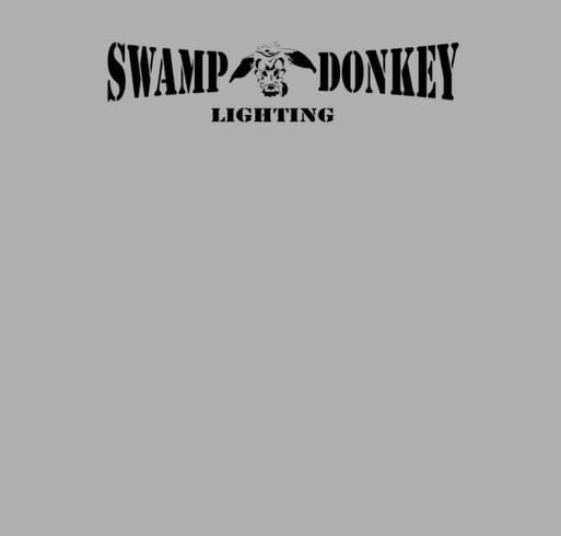 Sw& Donkey Lighting shirt design - zoomed & Swamp Donkey Lighting Custom Ink Fundraising