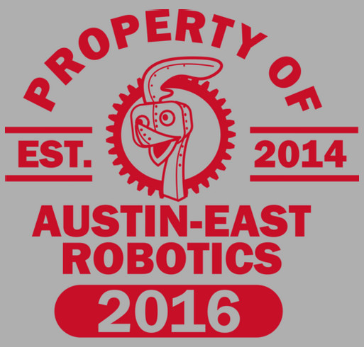 Austin East Robotics Club shirt design - zoomed