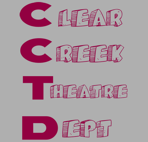 Clear Creek Theatre Department Fundraiser shirt design - zoomed