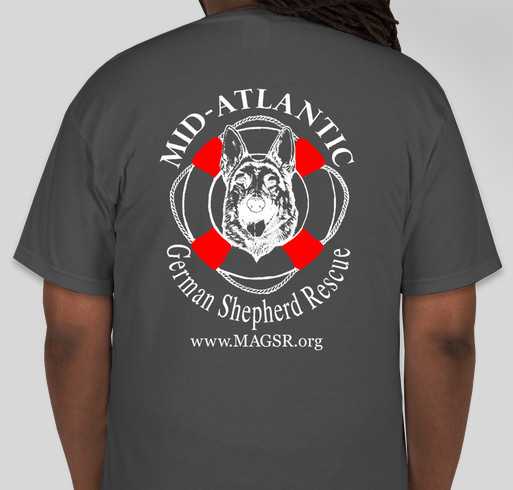 MAGSR - Rescuing and Changing Lives! Fundraiser - unisex shirt design - back