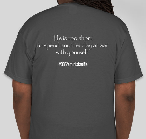#365FeministSelfie Midwest Conference Fundraiser - unisex shirt design - back