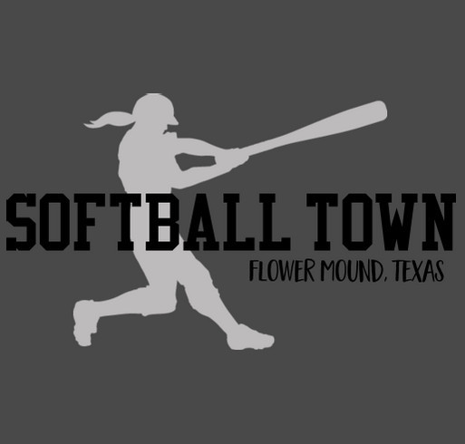 Softball Town shirt design - zoomed