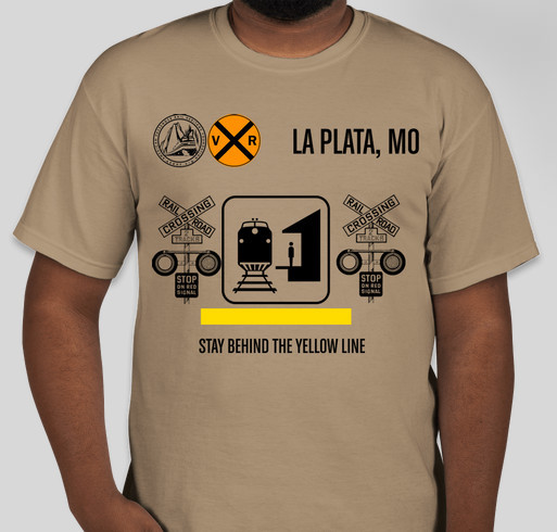 LaPlata Railroad Days Keith Thomas T-Shirt Fundraiser - unisex shirt design - front