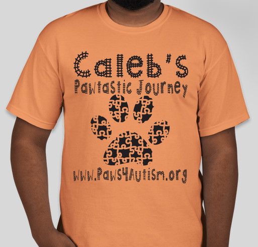 Caleb's Pawtastic Journey Fundraiser - unisex shirt design - front