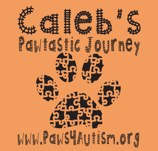 Caleb's Pawtastic Journey shirt design - zoomed