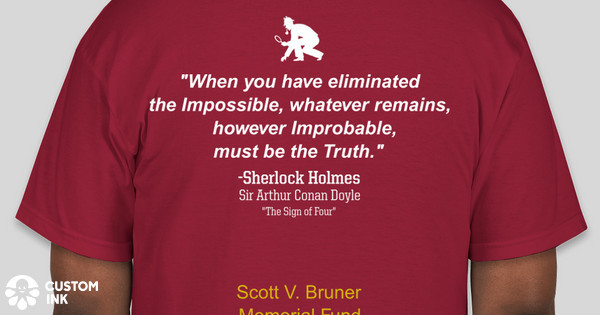 37802ce9 Scott V. Bruner Scholarship Fund Custom Ink Fundraising
