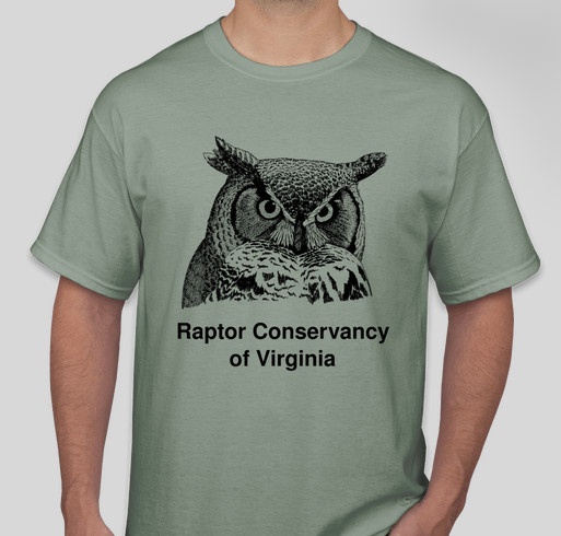 Raptor Conservancy of Virginia - Help us feed injured owls, hawks & falcons! Fundraiser - unisex shirt design - front