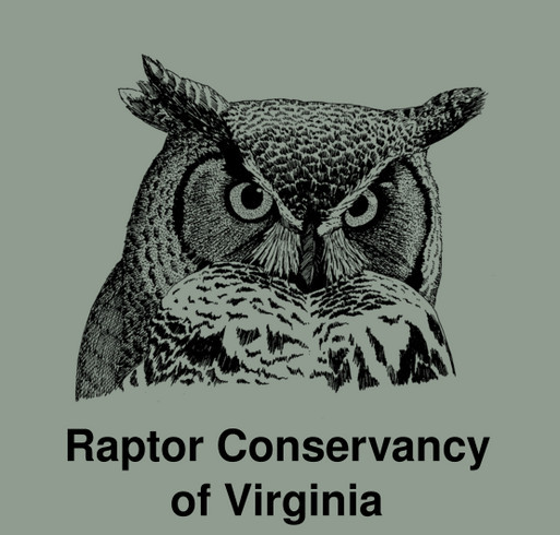 Raptor Conservancy of Virginia - Help us feed injured owls, hawks & falcons! shirt design - zoomed