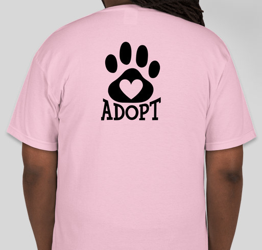 We rescue, rehabilitate & re home dogs that suffer from abuse, neglect, illnesses or special needs. Fundraiser - unisex shirt design - back