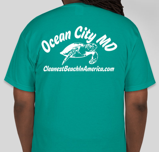 Ocean City MD, the Cleanest Beach In America Fundraiser - unisex shirt design - back