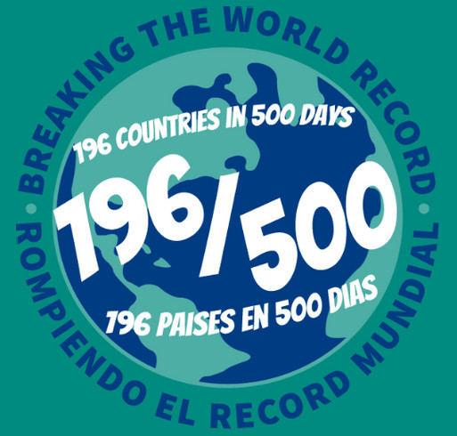 Breaking the World Record 196 / 500 shirt design - zoomed