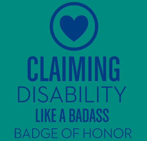 Claiming Disability Podcast Launch shirt design - zoomed