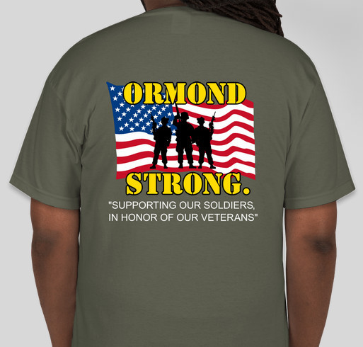 3rd Annual ORMOND STRONG T-Shirt Booster Fundraiser - unisex shirt design - back