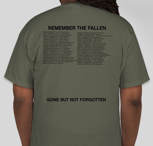 Remember Maine's Fallen Fundraiser - unisex shirt design - back