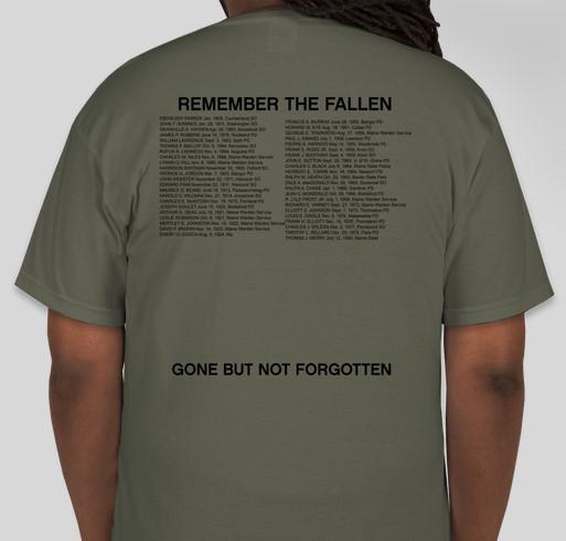 Remember Maine's Fallen Fundraiser - unisex shirt design - back