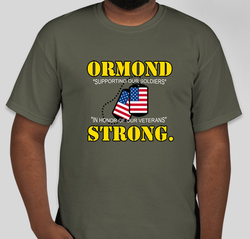 3rd Annual ORMOND STRONG T-Shirt Booster Fundraiser - unisex shirt design - front