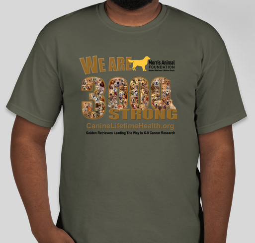 Golden Retriever Lifetime Study/Morris Animal Foundation Fundraiser - unisex shirt design - front