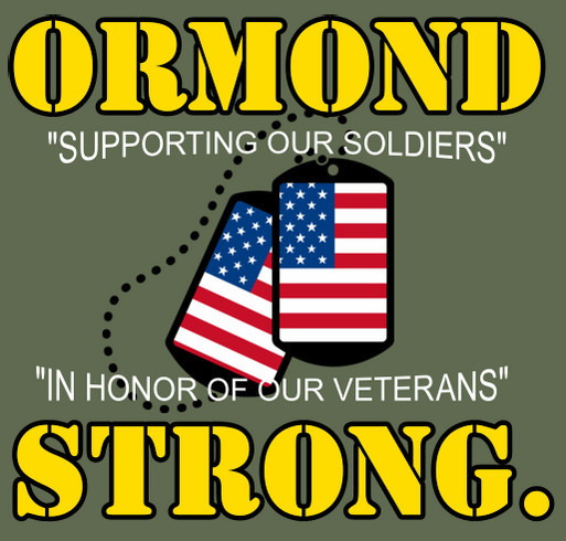 3rd Annual ORMOND STRONG T-Shirt Booster shirt design - zoomed