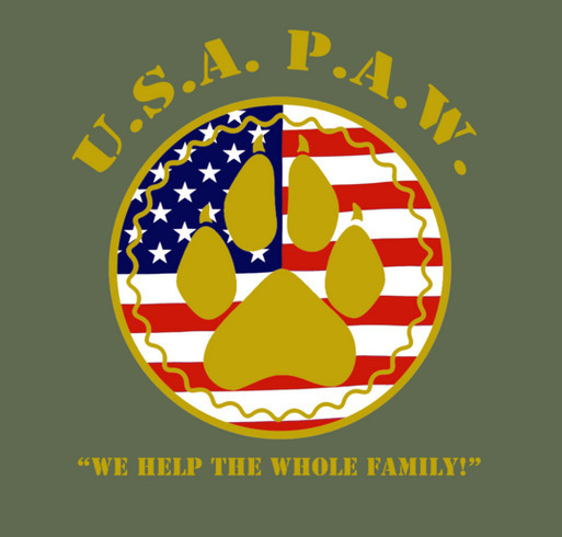 Patriot Animal Welfare Tee shirt design - zoomed