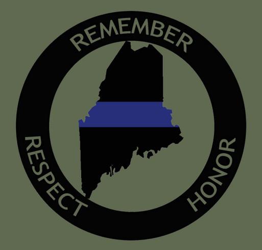 Remember Maine's Fallen shirt design - zoomed