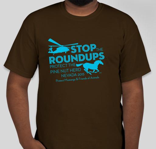 Protect Pine Nut Wild Horses Fundraiser - unisex shirt design - front