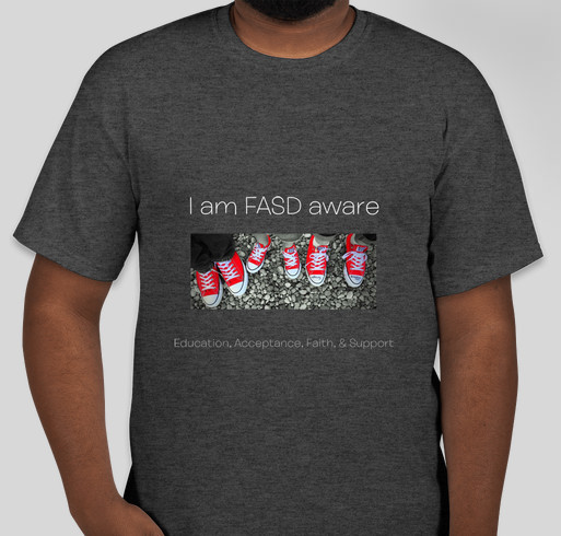 FASD Aware- running the race Fundraiser - unisex shirt design - front