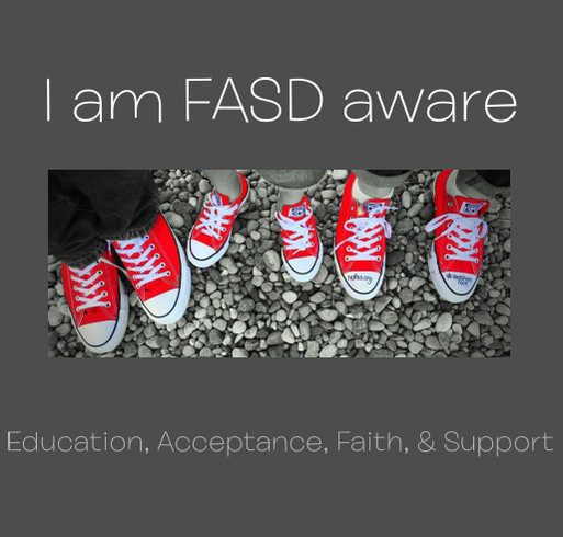 FASD Aware- running the race shirt design - zoomed