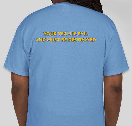 #mubb online support for Al's Run Fundraiser - unisex shirt design - back