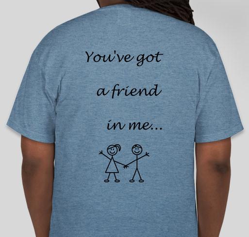 Best Buddies Fundraiser - unisex shirt design - back