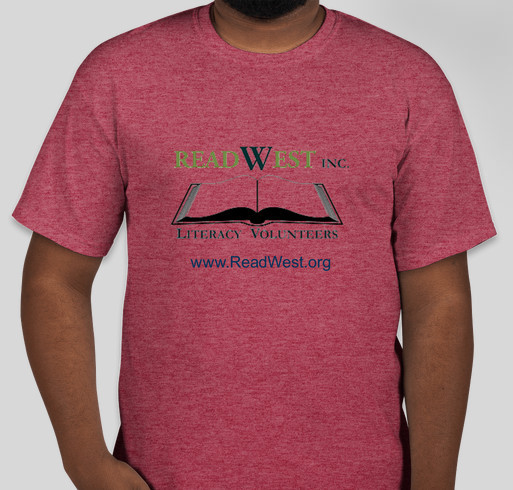 ReadWest Adult Literacy Fundraiser - unisex shirt design - front
