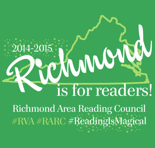 Richmond Area Reading Council shirt design - zoomed
