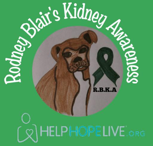 Go Green For Rodney Blair's Fund shirt design - zoomed