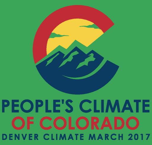 Denver Climate March 2017 shirt design - zoomed