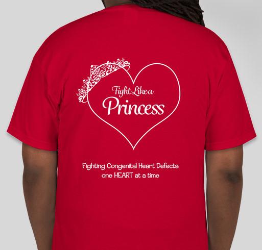 TEAM PRINCESS ANNABELLE Nashville CHD Walk Fundraiser - unisex shirt design - back