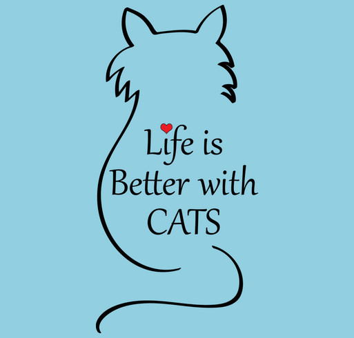 Life is Better With Cats! shirt design - zoomed