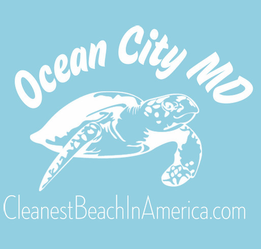 Ocean City MD, the Cleanest Beach In America shirt design - zoomed