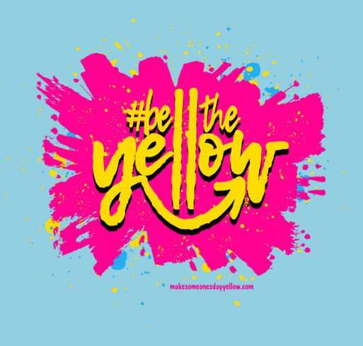 Be The Yellow shirt design - zoomed