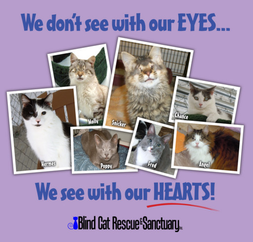 We See with our heart shirt design - zoomed