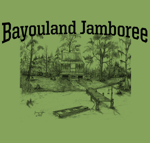 2017 Bayouland Jamboree t-shirts shirt design - zoomed