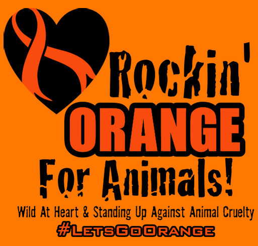 #LetsGoOrange Worldwide For Animals shirt design - zoomed