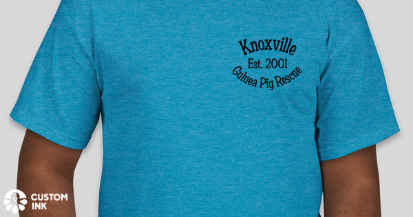 Knoxville Guinea Pig Rescue's 15th Anniversary T-Shirts