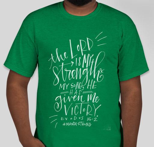 Manda Strong Fundraiser - unisex shirt design - front