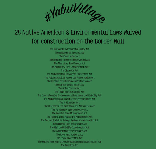 28 Laws Being Waived for the Border Wall. shirt design - zoomed