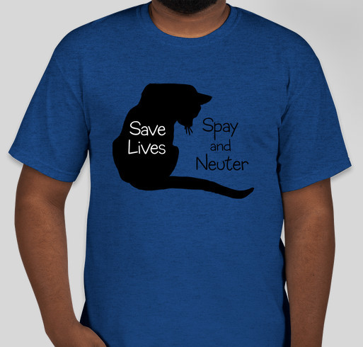 Save homeless cats - Spay & Neuter Fundraiser - unisex shirt design - front