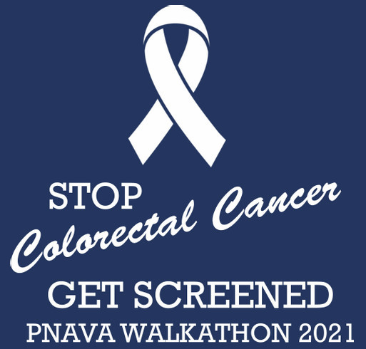 Virtual 5K Run/Walk for Colorectal Cancer Registration $30 shirt design - zoomed