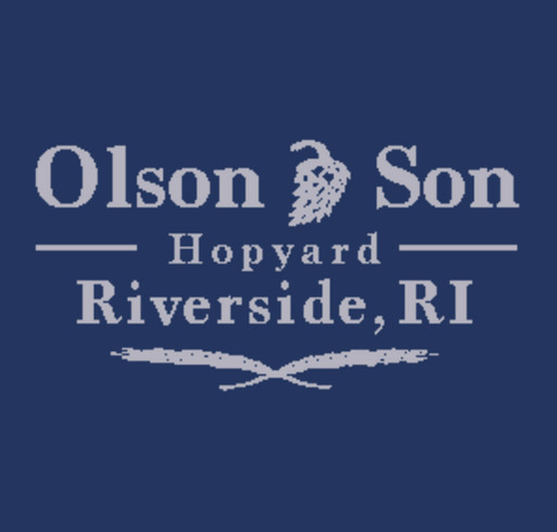 Olson & Son Hopyard Spring '16 Tee shirt design - zoomed