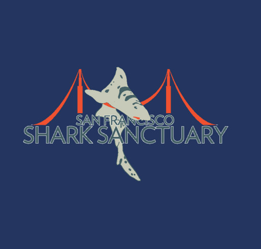 Sanctuary for Sharks shirt design - zoomed